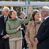 Bundespräsident und die das schwedische Königspaar bei einem Termin