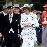 Der Polka-Dot-Look von Victor Edelstein, den Diana 1986 in Ascot präsentierte, inspirierte Jahre später ihre Schwiegertochter Herzogin Catherine, die sie leider nie kennengelernt hat.