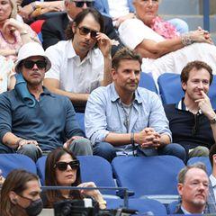Gesichtet: Brad Pitt, Bradley Cooper, Joseph Mazzello und Rami Malek bei US Open