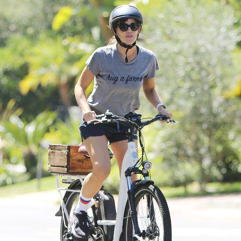 Fitness: Stars auf dem Fahrrad: Jennifer Garner