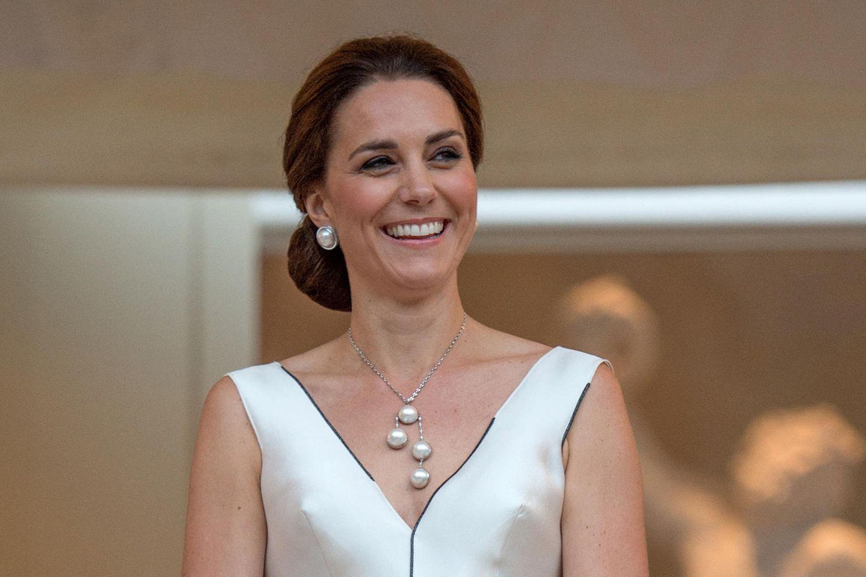 Entspannt wie hier bei einem Besuch in Polen im Jahr 2017 soll Herzogin Catherine die Hochzeitsfeier ihres Bruders James Middleton genossen haben.