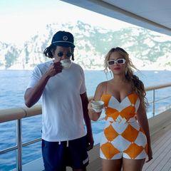 Jacht-Urlaub: Jay-Z und Beyoncé genießen ihren Kaffee auf ihrer Jacht