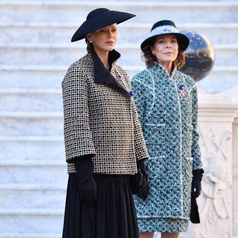 Fürstin Charlène und Prinzessin Caroline von Hannover