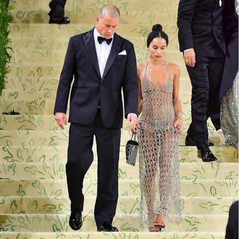 Ertappt! Hier verlassen Channing Tatum und Zoë Kravitz gemeinsam die Met Gala 2021.