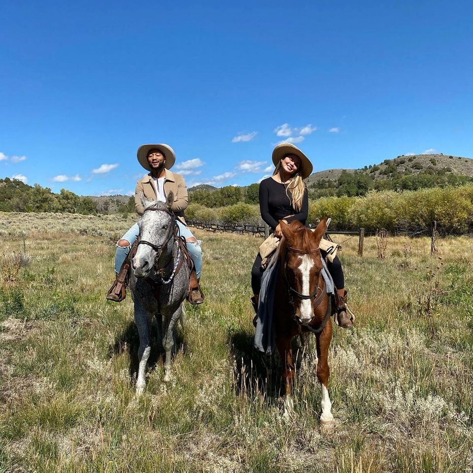 Stars lieben Pferde: John Legend und Chrissy Teigen