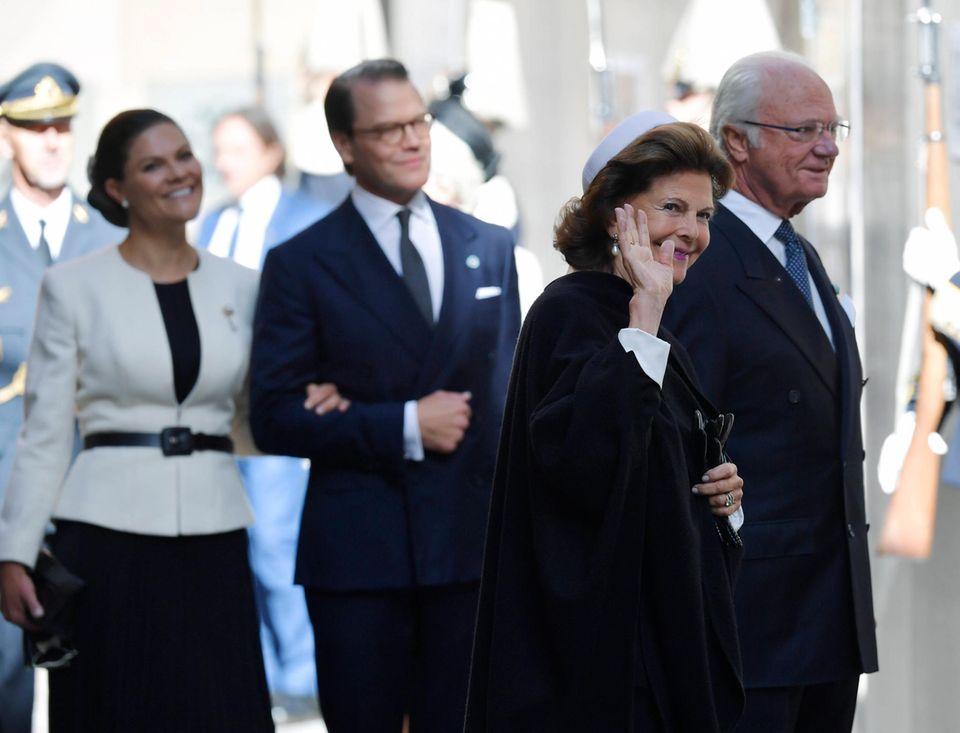 RTK: Königin Silvia, König Carl Gustaf und das Kronprinzessinenpaar