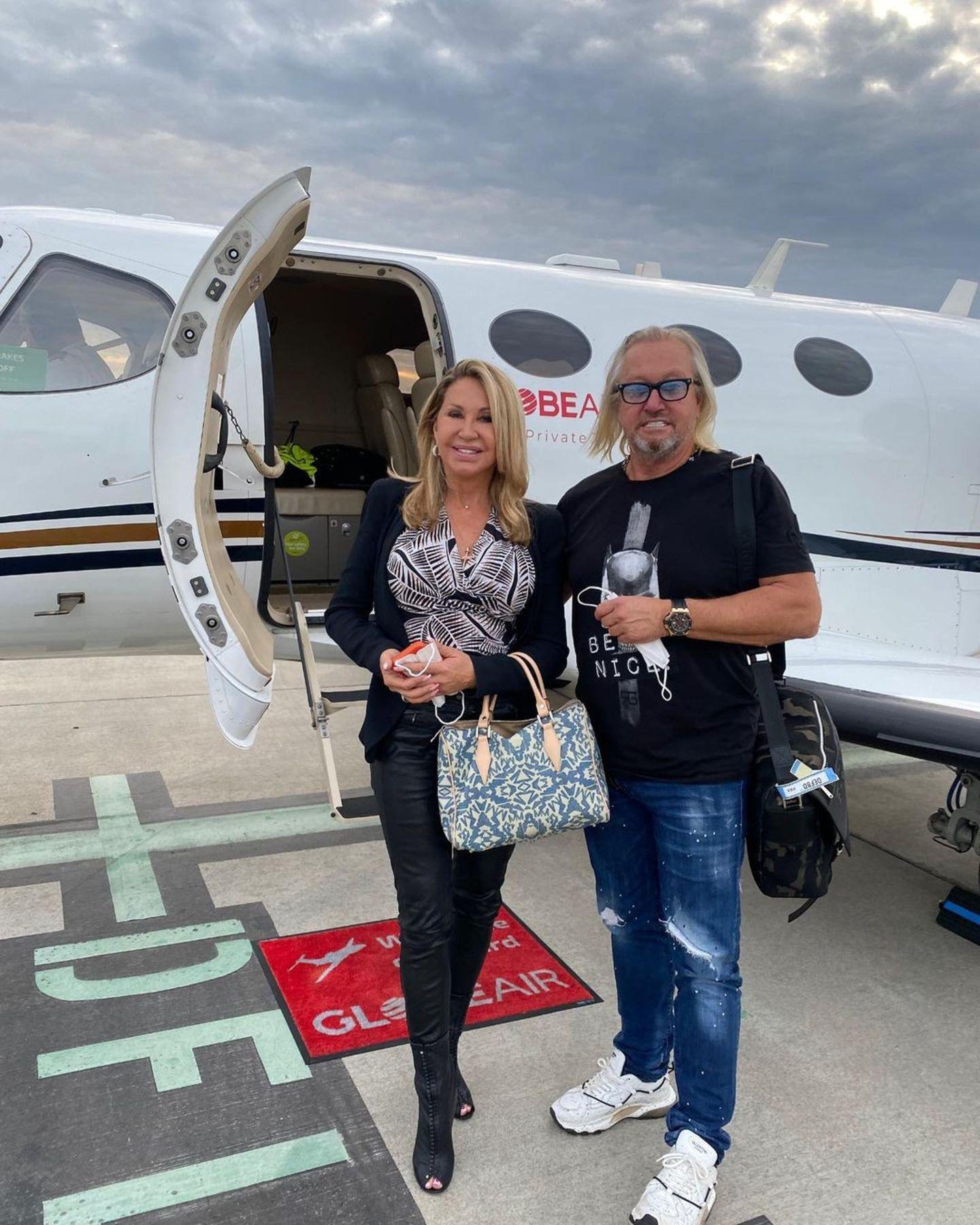 Privatjets der Stars: Carmen Geiss und Robert Geiss