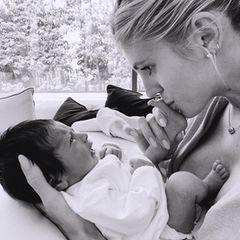Sprösslinge: Devon Windsor mit ihrem Baby Enzo