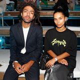 Noah Becker besucht mit seiner Verlobten die Fashion-Show von Tom Tailor