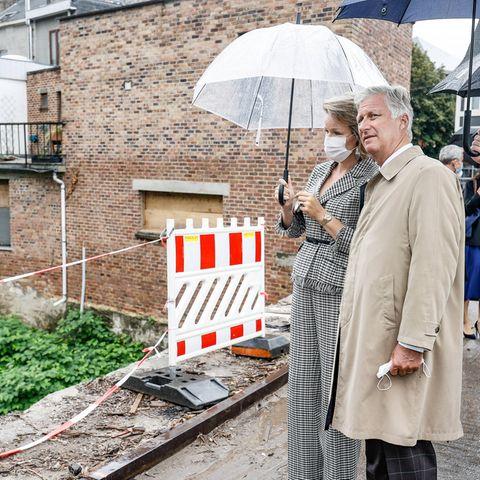 Royaler Terminkalender: Königin Mathilde und König Philippe von Belgien besuchen Überschwemmungsgebiete
