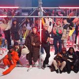 Models posieren auf dem Laufsteg der Jack & Jones-Show