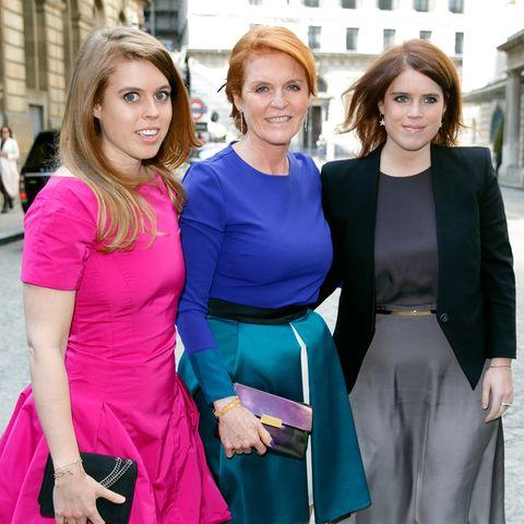 Prinzessin Beatrice, Sarah Ferguson und Prinzessin Eugenie