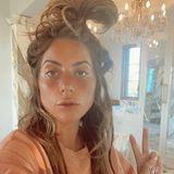 Gezwitscher: Lady Gaga kurz nach dem Aufstehen