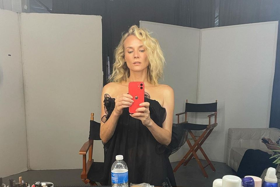 Set: Diane Kruger bereit für ihr shooting