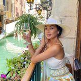 Happy Hour: Nicole Scherzinger mit Wein in Venedig