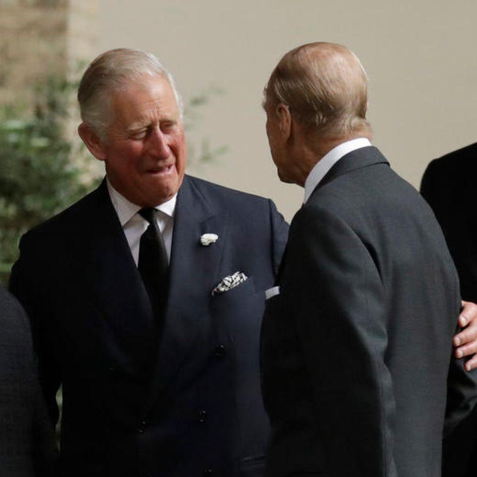 Prinz Charles und Prinz Philip im Jahr 2017