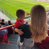 Sprösslinge: Romeo und Ann-Kathrin Götze im Stadion