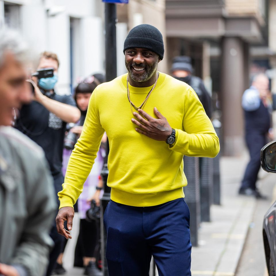 Idris Elba besucht die LFW
