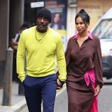"""""""Luther""""-Star Idris Elba und seine Frau Sabrina Dhowre haben sich für eine Präsentation von Roland Mouret im The Soho Hotelschick gemacht."""