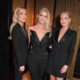 Geschwister-Style: Lady Kitty Spencer und ihre SchwesternAmelia (l.) undEliza (r.) haben sich für die Fashion-Week-Party von Perfect Magazine und NoMad alle drei einen eleganten Blazer-Look ausgesucht.
