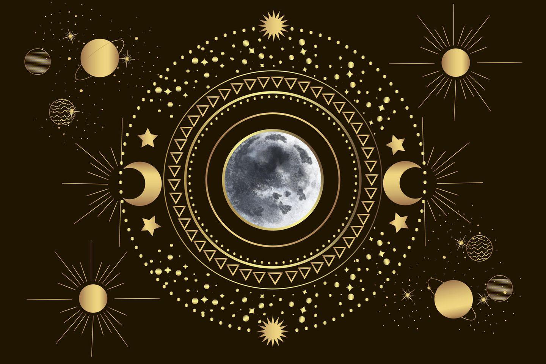 Horoskop:Eine Grafik mit einem Vollmond