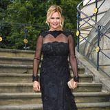 Veronica Ferres auf dem roten Teppich der Staatsoper in Berlin