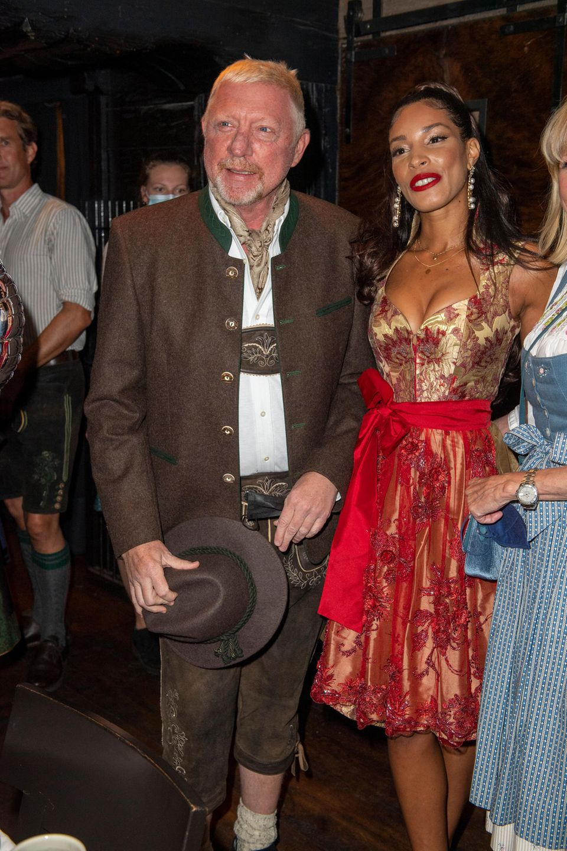 Boris Becker und Lilian de Carvalho Monteiro feiern in München.