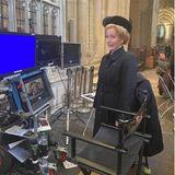 """Setbilder: Gillian Anderson am Set von """"The Crown"""""""