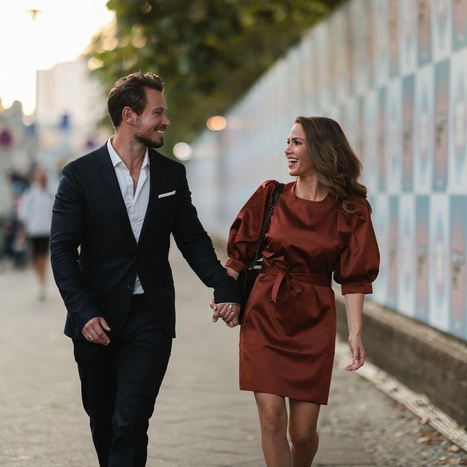 Sebastian und Angelina Pannek bei der Fashion Week im September 2021.