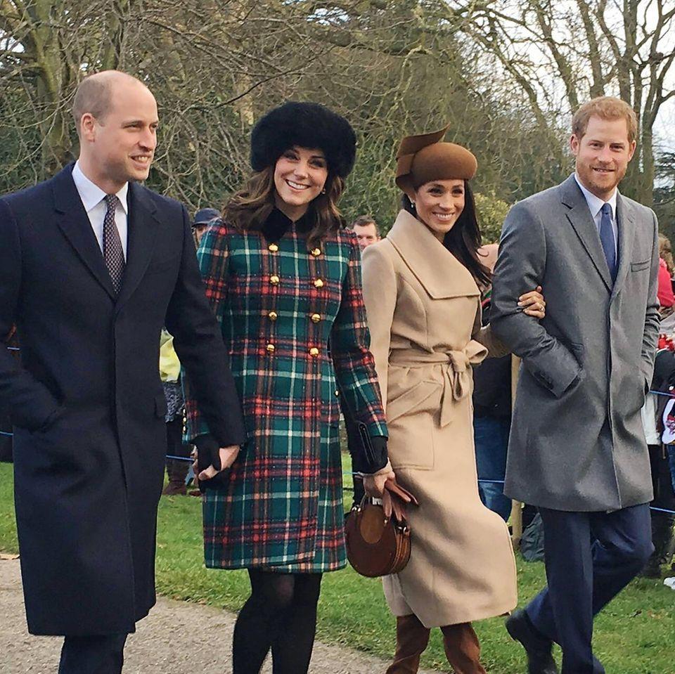 Prinz William, Herzogin Catherine sowie Herzogin Meghan und Prinz Harry