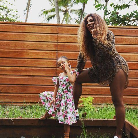 Sprösslinge: Serena Williams und Tochter Olympia posieren gemeinsam im Urlaub