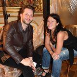 Derek Blasberg und Modejournalistin Katie Grand freuen sich, mal wieder einen kleinen Front-Row-Plausch halten zu können.