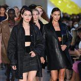 Die lässigen Looks zur Probe haben Gigi Hadid, Irina Shayk und ihre Model-Kolleginnen gegen die neuesten Kreationen von Max Mara fürs kommende Frühjahr und Sommer eingetauscht.