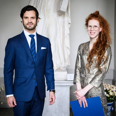 RTK: Prinz Carl Philip und Hannah Clarkson bei der Preisverleihung