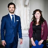 RTK: Prinz Carl Philip und Hanna Holmgren bei der Preisverleihung