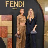 Jordan Alexander und Maddie Ziegler sind ebenfalls für die Fendi-Show nach Mailand gereist.
