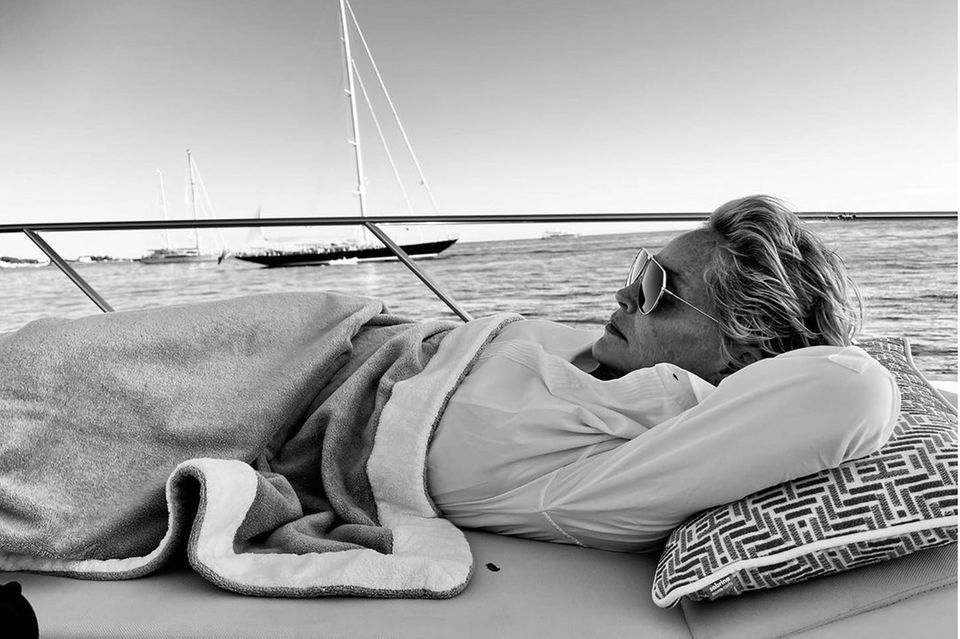 Jachten der Stars: Sharon Stone liegt auf Boot