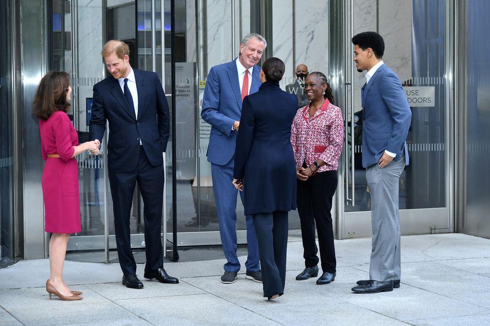 """Prinz Harry und Herzogin Meghan besuchen das """"One World Observatory"""" in New York"""