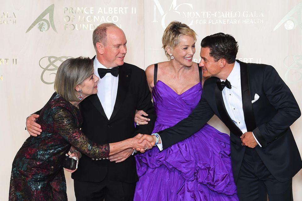 Monacos Fürstenfamilie: Prinzessin Caroline, Prinz Albert und Sharon Stone, Orlando Bloom
