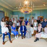 Kronprinz Haakon und Kronprinzessin Mette-Marit beim Mittagessen mit Jugendlichen
