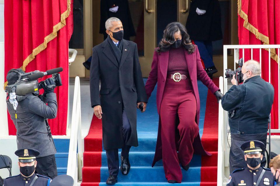 Barack und Michelle Obama bei der Vereidigung von Joe Biden