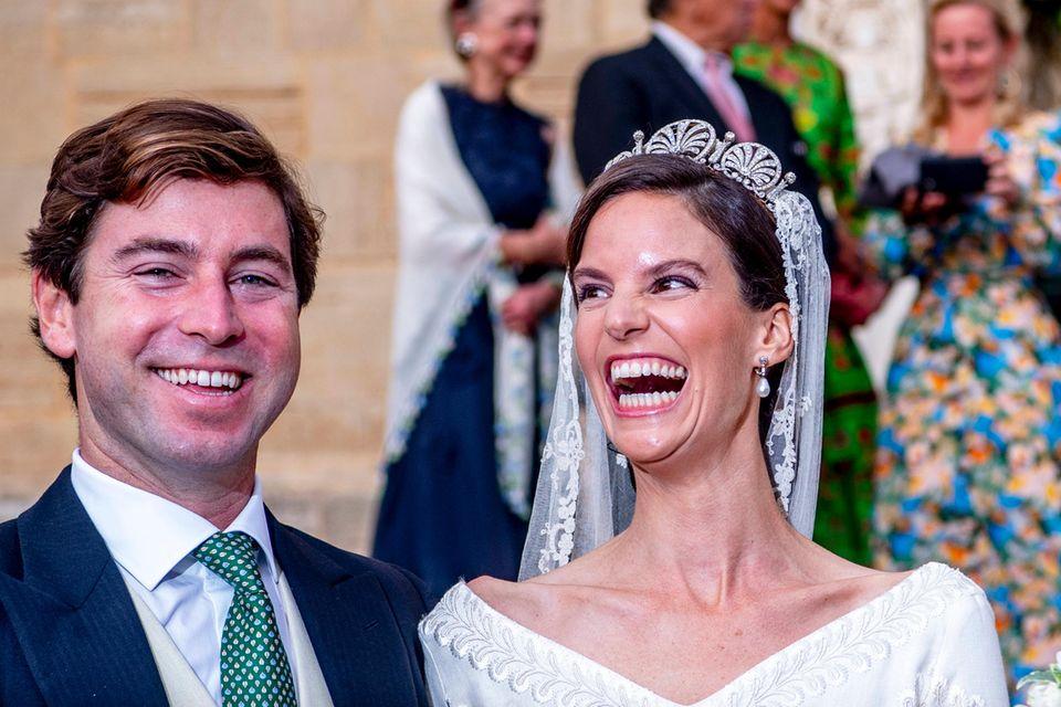 Die Freude stand dem Brautpaar förmlich ins Gesicht geschrieben