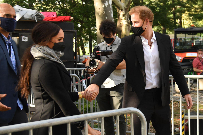 Herzogin Meghan und Prinz Harry wurden bei ihrem New-York-Aufenthalt von einem Kameramann begleitet.