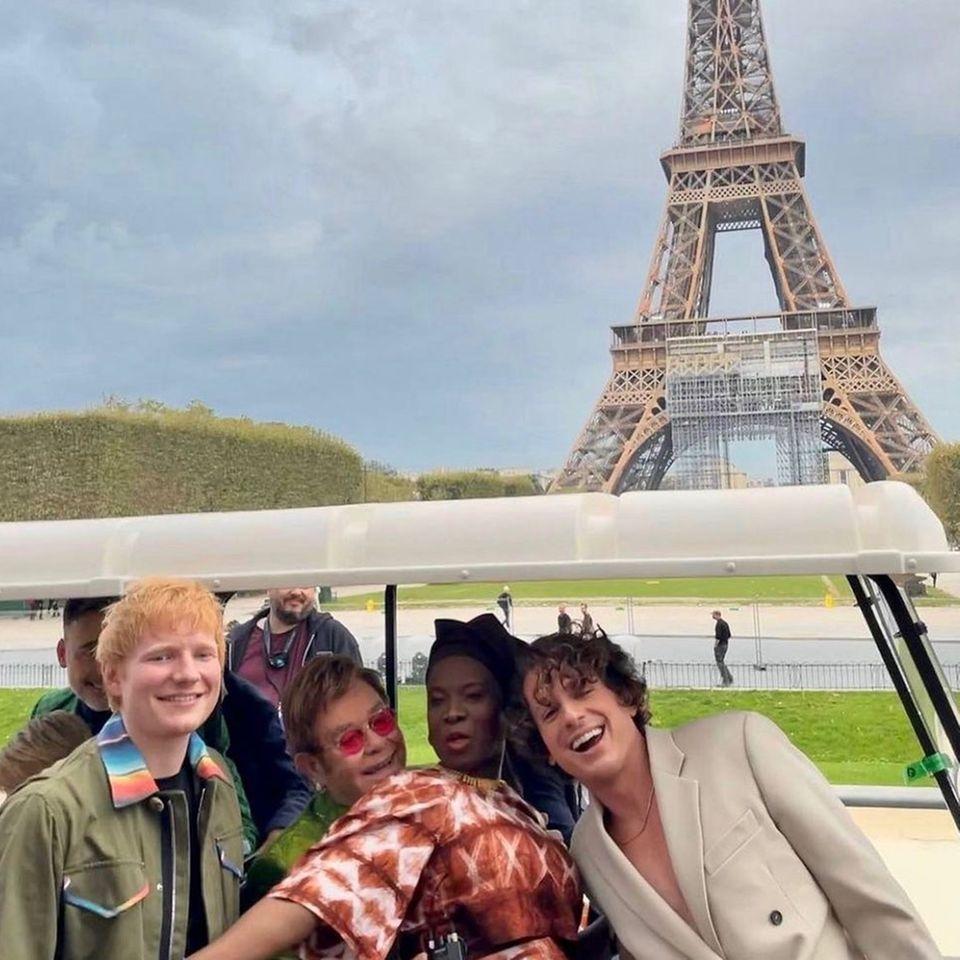 Stars in Paris: Ed Sheeran + Elton John + Angelique Kidjo + Charlie Puth