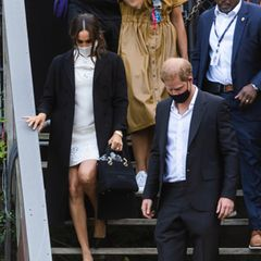 Herzogin Meghan und Prinz Harry verlassen das Global Citizen Konzert