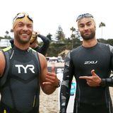 Sportliche Stars: Kyle Schmid + Chance Crawford beim Malibu Triathlon