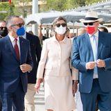 Monaco Royals: Prinz Albert und Prinzessin Caroline weihen Gedenktafeln im Larvotto-Viertel ein