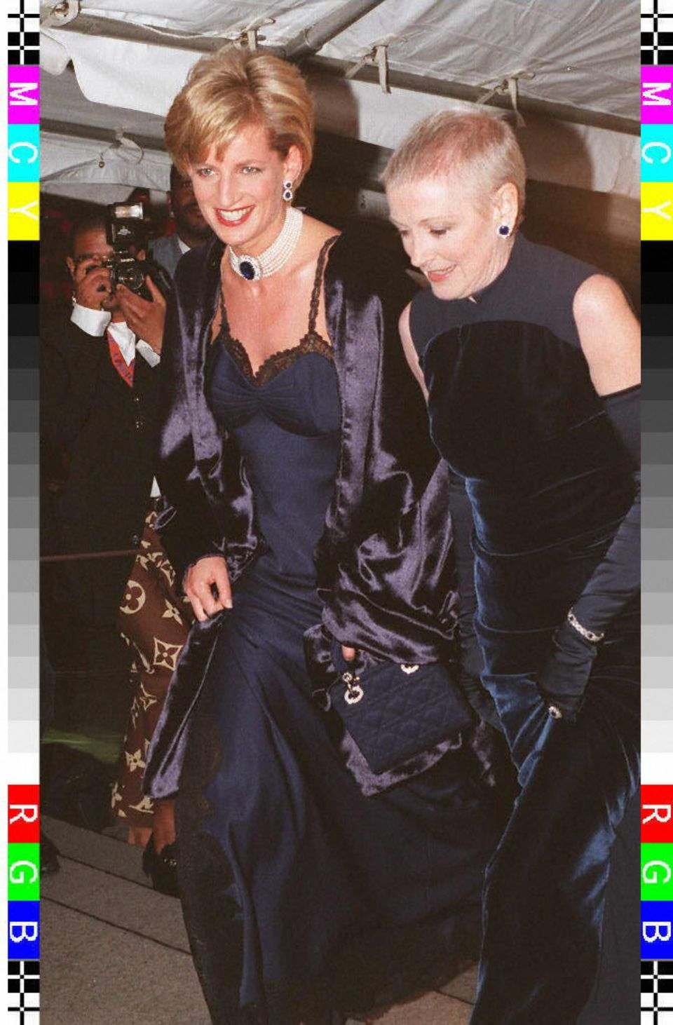 Lady Diana bei der Met Gala 1996.