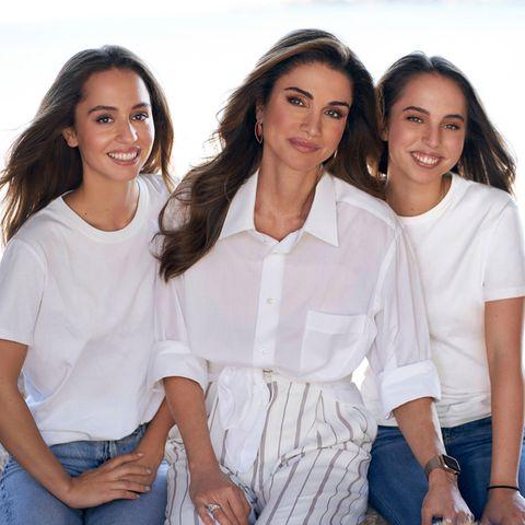 Rania von Jordanien: Königin Rania mit ihren Töchtern Salma und Iman