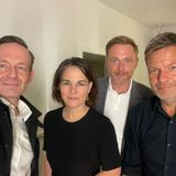 Gezwitscher: Volker Wissing, Annalena Baerbock, Christian Lindner + Robert Habeck